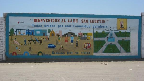 Mural del Asentamiento Humano San Agustín, Chincha, Perú